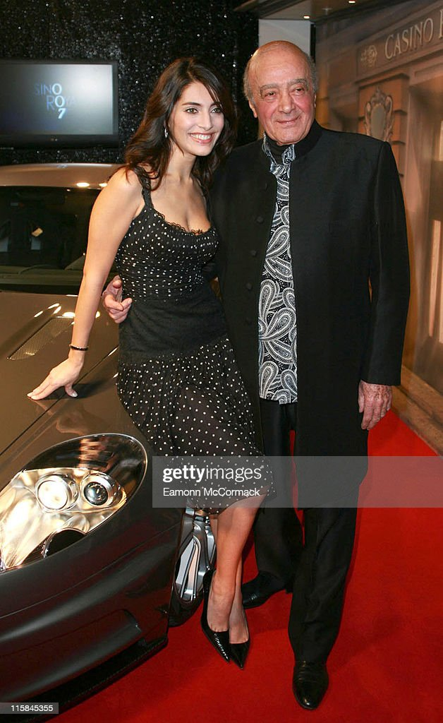 Caterina Murino and Mohammed AlFayed during Harrods 2006 Christmas Window Launch with Caterina Murino in London United Kingdom