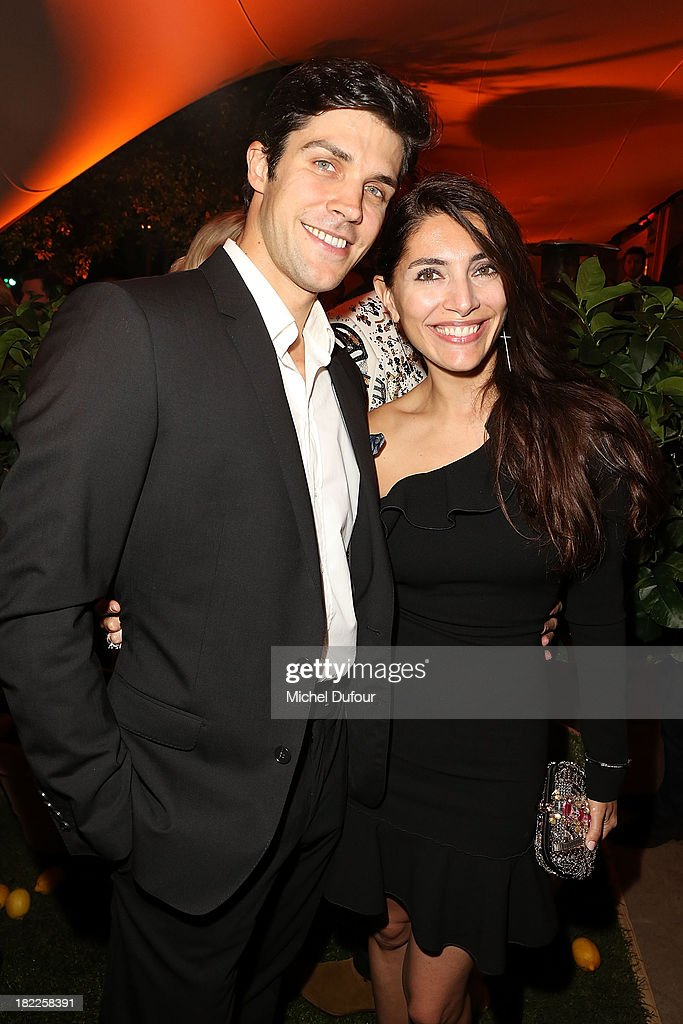 Caterina Murino and Roberto Bolle attend The Pucci Dinner Party At Monsieur Bleu In Paris on September 28, 2013 in Paris, France.