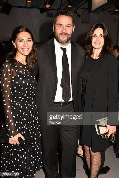 Caterina Murino Bruce Toussaint and Helena Noguerra attend the 'Positive Awards' Ceremony at La Gaiete Lyrique on December 7 2015 in Paris France