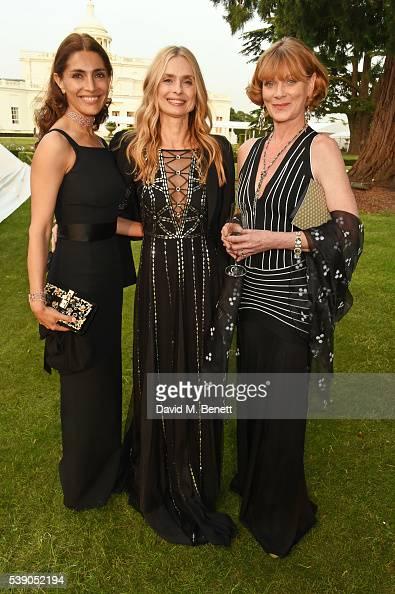 Caterina Murino Maryam d'Abo and Samantha Bond attend the Duke of Edinburgh Award 60th Anniversary Diamonds are Forever Gala at Stoke Park on June 9...