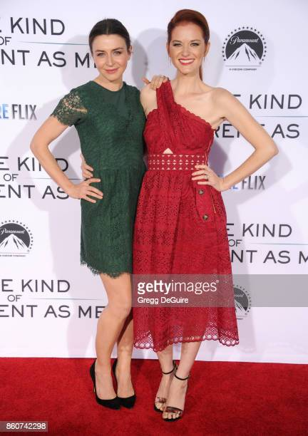 Caterina Scorsone and Sarah Drew arrive at the premiere of Paramount Pictures and Pure Flix Entertainment's 'Same Kind Of Different As Me' at...