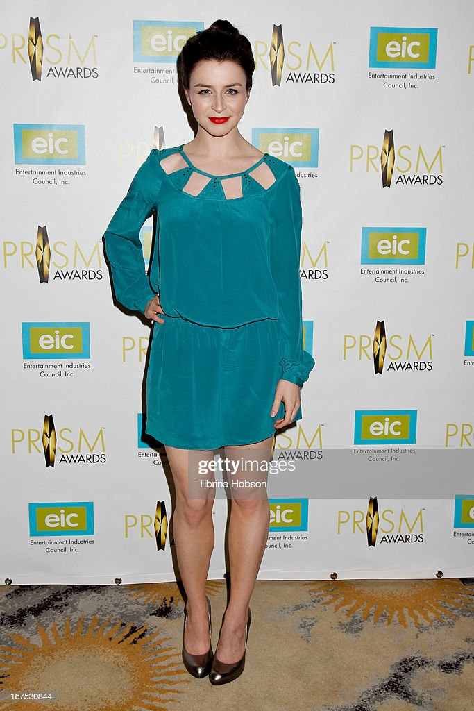 Caterina Scorsone attends the 17th annual Prism Awards at Beverly Hills Hotel on April 25, 2013 in Beverly Hills, California.