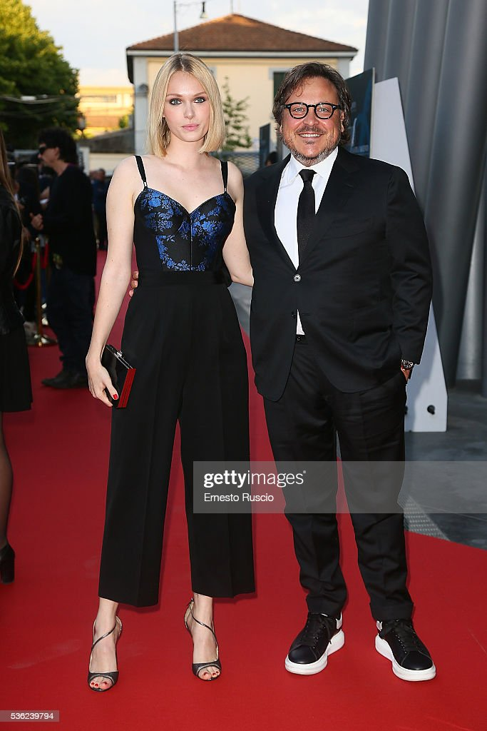 Caterina Shulha and Marco Belardi attend the Nastri D'Argento 2016 Award Nominations at Maxxi Museum on May 31, 2016 in Rome, Italy.