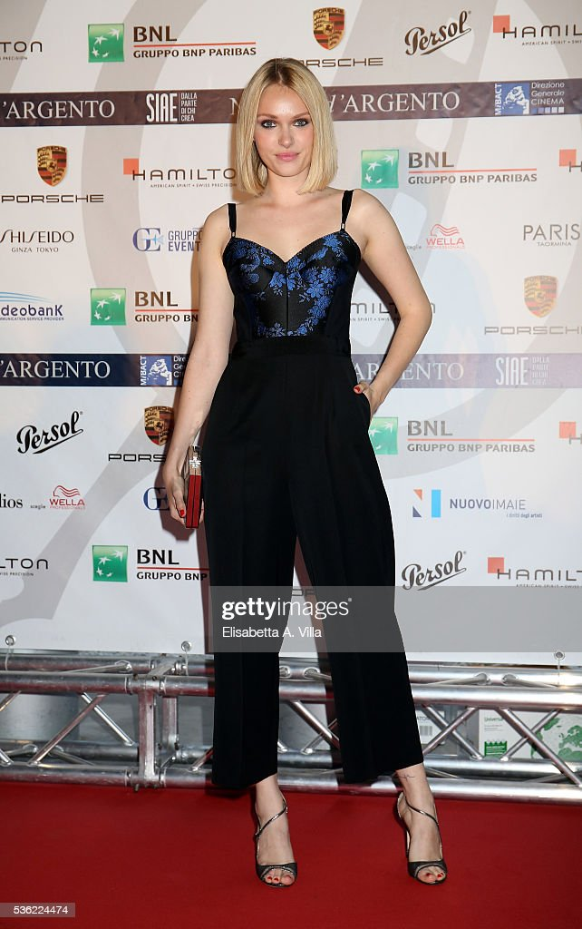 Caterina Shulha attends Nastri D'Argento 2016 Award Nominations at Maxxi on May 31, 2016 in Rome, Italy.