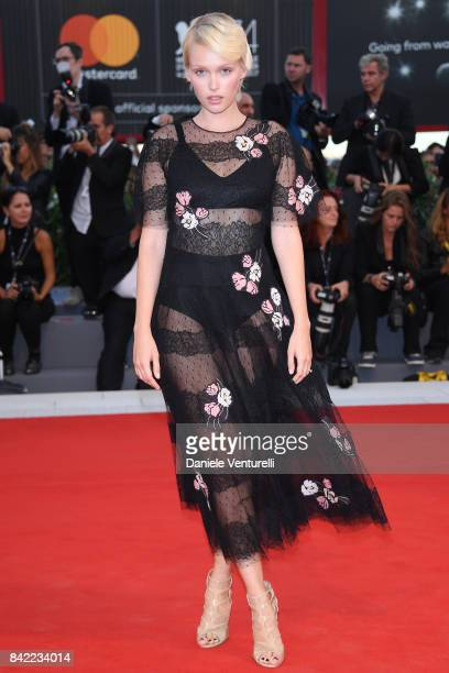 Caterina Shulha walks the red carpet ahead of the 'The Leisure Seeker ' screening during the 74th Venice Film Festival at Sala Grande on September 3...