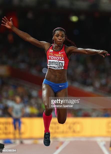 Caterine Ibarguen of Colombia competes in the Women's Triple Jump final during day three of the 15th IAAF World Athletics Championships Beijing 2015...
