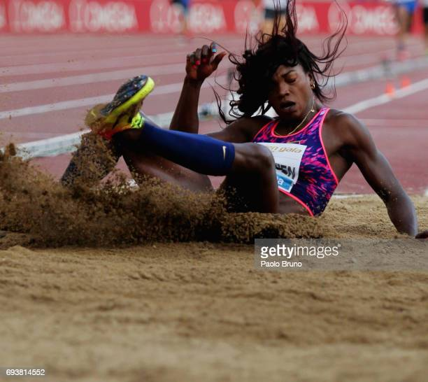 Caterine Ibarguen of Columbia competes in the triple jump women during the Golden Gala Pietro Mennea at Stadio Olimpico on June 8 2017 in Rome Italy