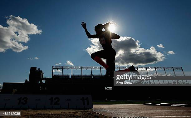 Caterine Ibarguen of Columbia competes in the women's triple jump final during Day 11 of the Toronto 2015 Pan Am Games on July 21 2015 in Toronto...