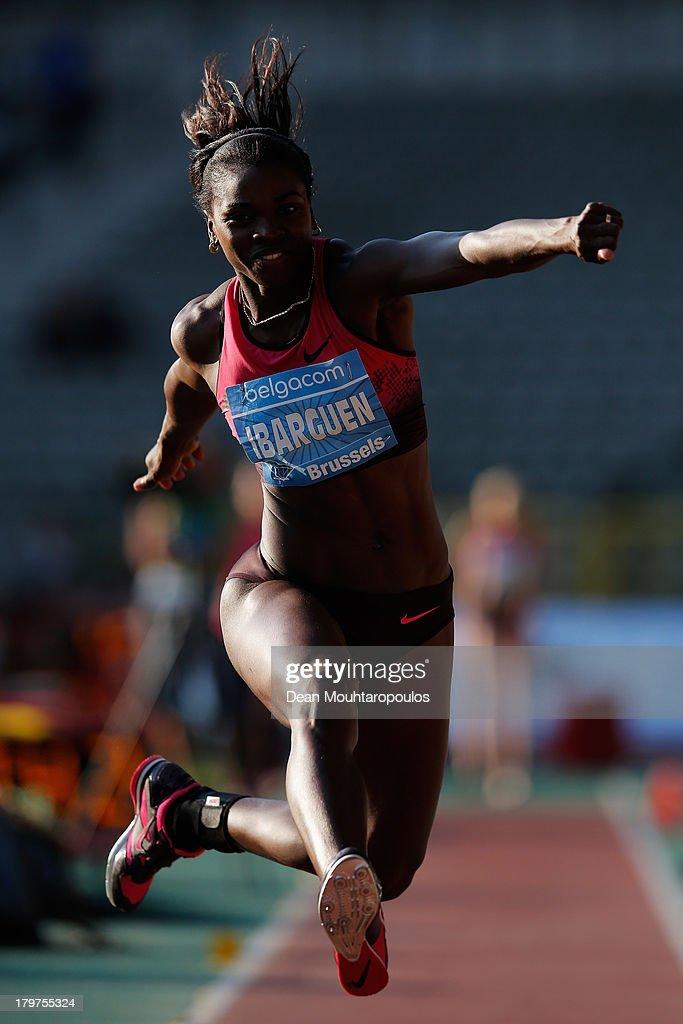 Caterine Ibarguen of Columbia competes in the Womens Triple Jump during the 2013 Belgacom Memorial Van Damme IAAF Diamond League meet at The King Baudouin Stadium on September 6, 2013 in Brussels, Belgium.