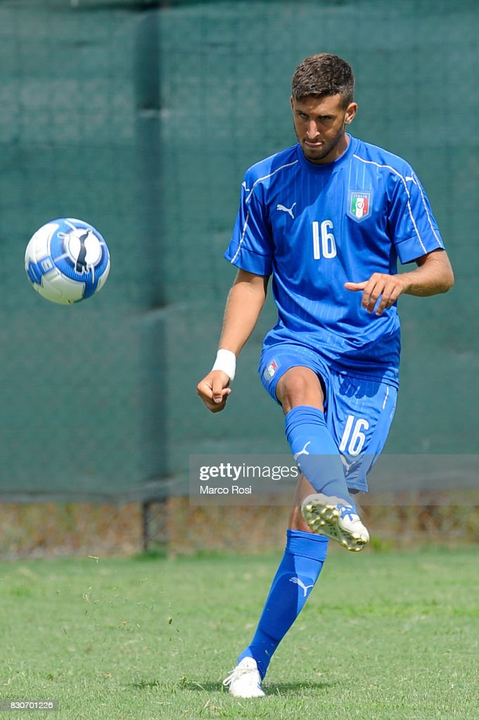 Catese Andrea of Italy during the frienldy match between Italy University and ASD Audace on August 12, 2017 in Rome, Italy.