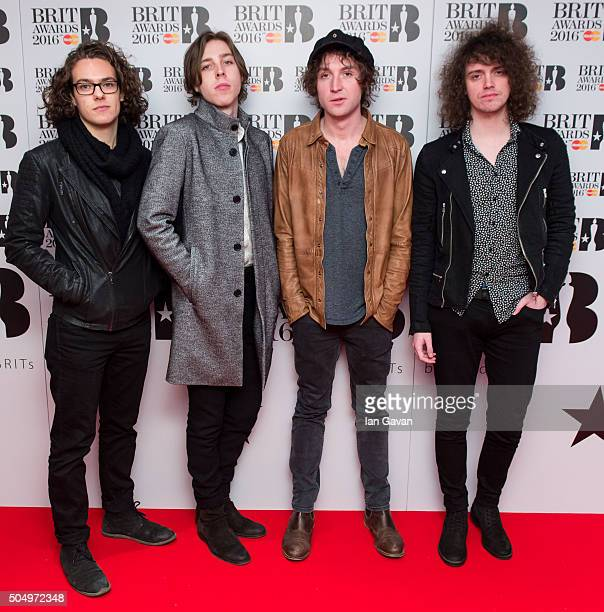 Catfish and the Bottlemen attend the nominations launch for The Brit Awards 2016 at ITV Studios on January 14 2016 in London England