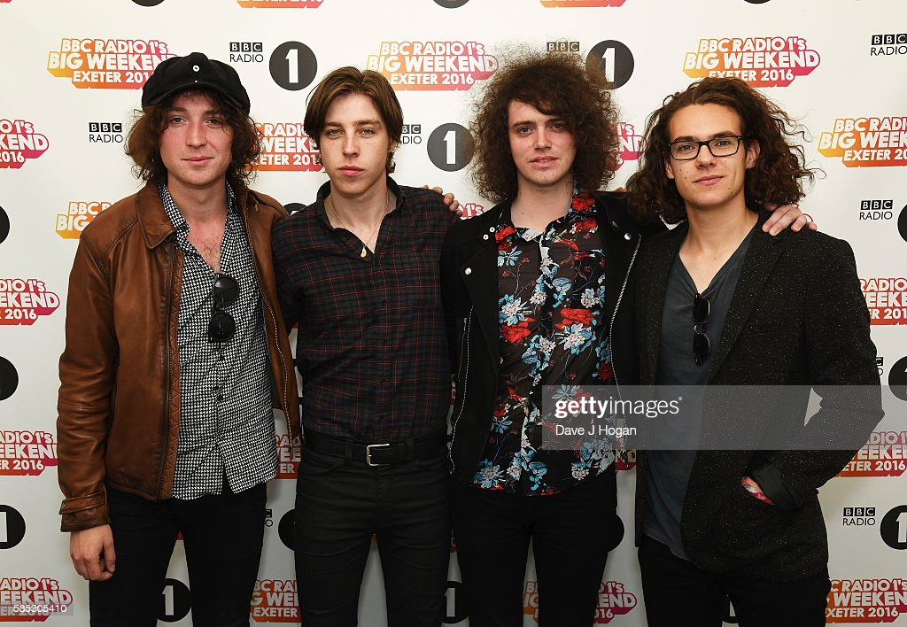 Catfish And The Bottlemen pose for a photo during day 2 of BBC Radio 1's Big Weekend at Powderham Castle on May 29, 2016 in Exeter, England.