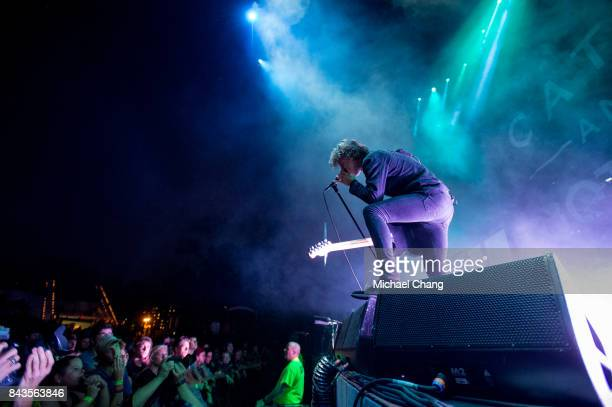 Catfish and the Bottlemen's Van McCann performs at The Amphitheater at the Wharf on September 6 2017 in Orange Beach Alabama