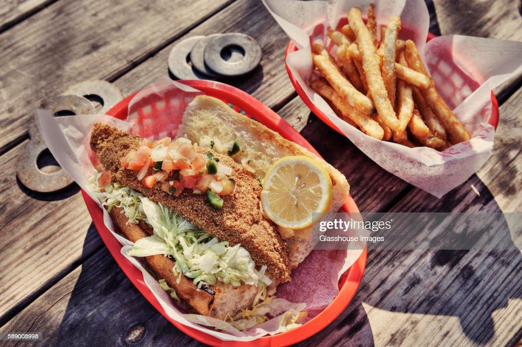 Catfish Po' Boy Sandwich