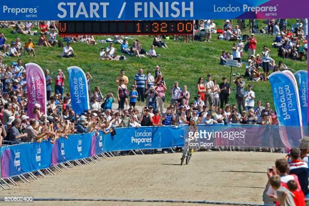 Catharine Pendrel Competion Test de VTT a Hadleigh Farm Lieu de Competition des prochains Jeux Olympiques 2012 a Londres Hadleigh Country Park