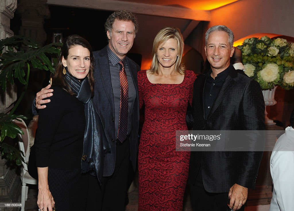 Catharine Soros, actor <a gi-track='captionPersonalityLinkClicked' href=/galleries/search?phrase=Will+Ferrell&family=editorial&specificpeople=171995 ng-click='$event.stopPropagation()'>Will Ferrell</a>, Viveca Paulin Ferrell and art collector Jeffrey Soros attend Museo Jumex Opening welcome dinner at Casa De La Bola on November 15, 2013 in Mexico City, Mexico.