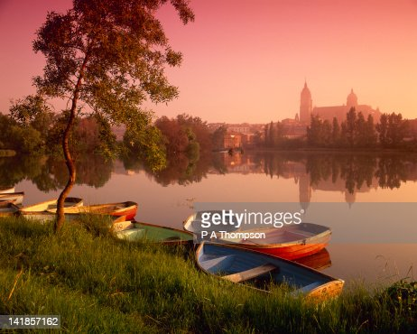 Cathedral and River Tormes, Salamanca, Castile Leon, Spain