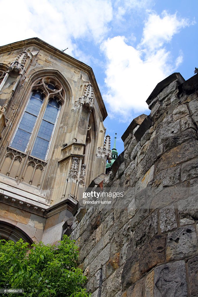 Cathedral and the Ruins of Castles : Stock Photo