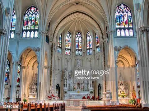 Cathedral Basilica of the Immaculate Conception : Foto de stock