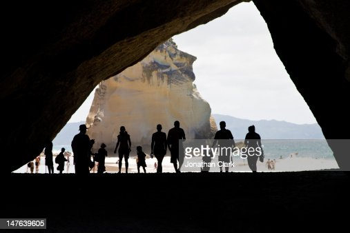 Cathedral cove silhouette