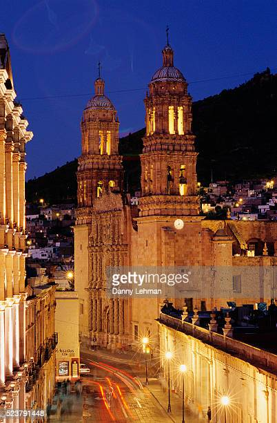 Cathedral de Zacatecas Illuminated at Night