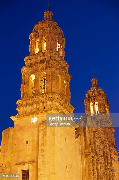 Cathedral de Zacatecas Illuminated in the Evening