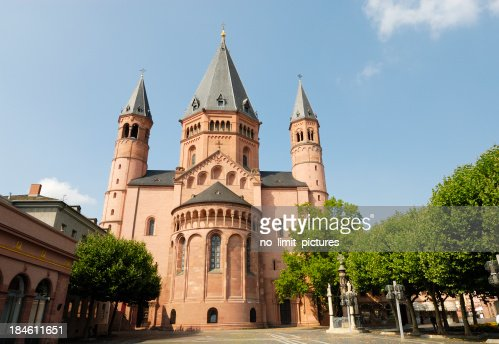 cathedral mainz stock photo getty images. Black Bedroom Furniture Sets. Home Design Ideas
