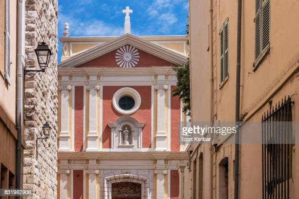 Cathedral of Antibes, Ste Marie,  front view, Anti,bes, Alpes Maritimes, France