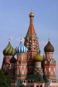 Cathedral of Saint Basil on the Red Square on May 18 2008 in Moscow Russia