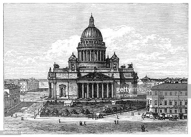 Cathedral of St Isaac St Petersburg Russia 1900 St Isaac's Cathedral was the largest cathedral in Russia built between 18181858 Illustration from The...