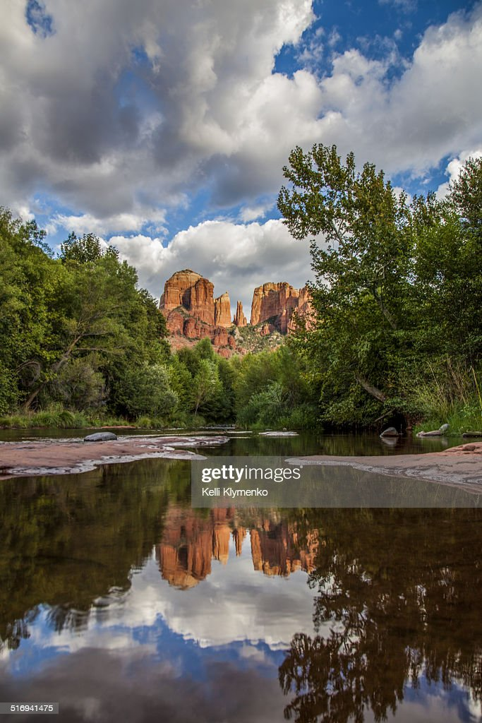 Cathedral Rock Reflections : Stock Photo