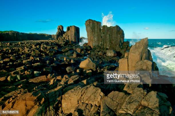 Cathedral rocks at Bombo, New South Wales, Australia