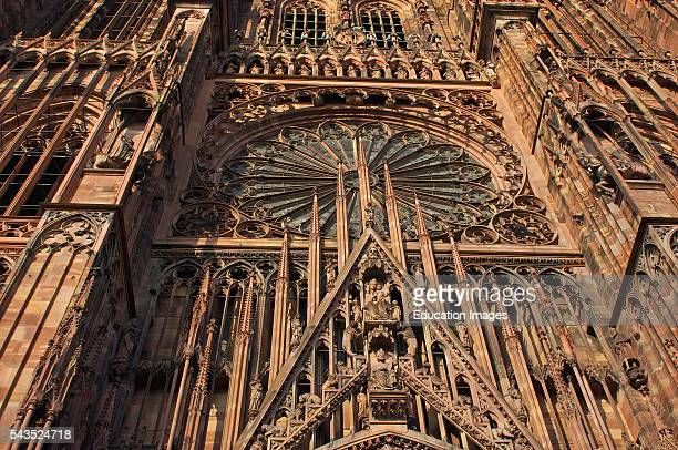 Cathedral Strasbourg NotreDame Gothic cathedral UNESCO world heritage site Alsace Bas Rhin France Europe