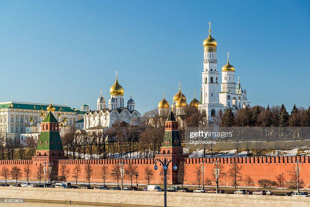 Cathedrals of the Moscow Kremlin, Russia : Bildbanksbilder