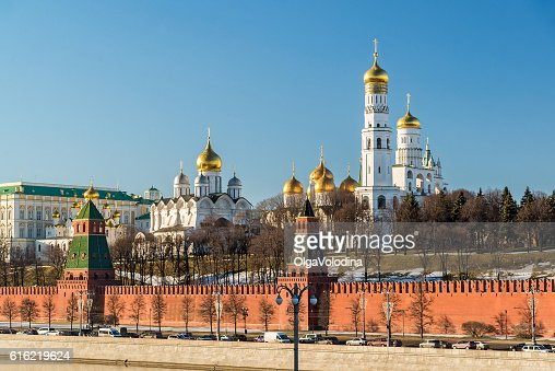 Cathedrals of the Moscow Kremlin, Russia : Stock Photo