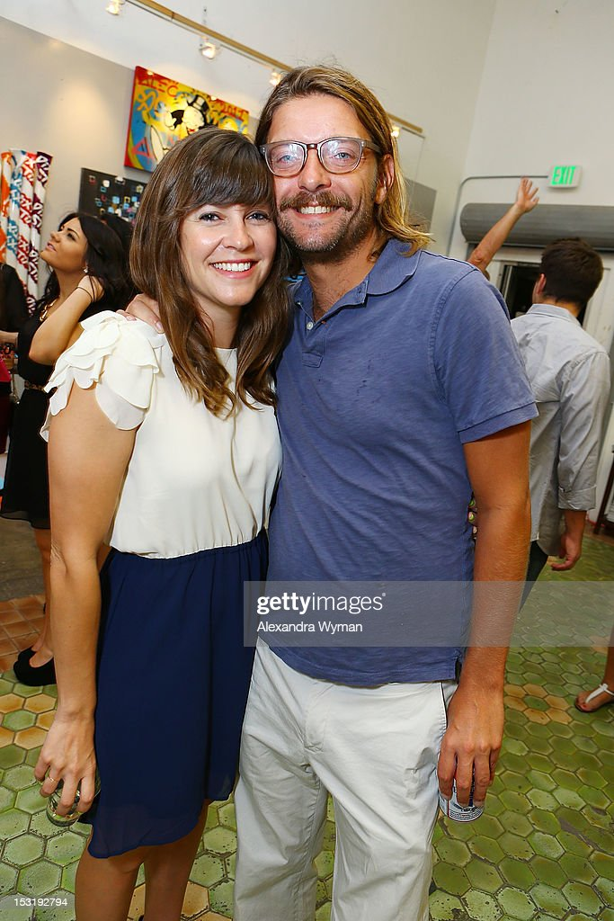 Catherine and Brandon Sheehan at 'American Rag And Lab ART Present 'Keep Breast,'' an Americana themed art exhibition for Breast Cancer Prevention Month at LAB ART on September 29, 2012 in Los Angeles, California.