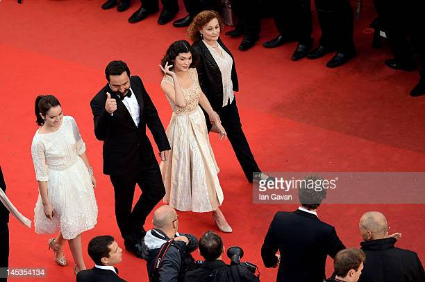 Catherine Arditi Audrey Tautou Gilles Lellouche and Anais Demoustier attend the Closing Ceremony and 'Therese Desqueyroux' premiere during the 65th...