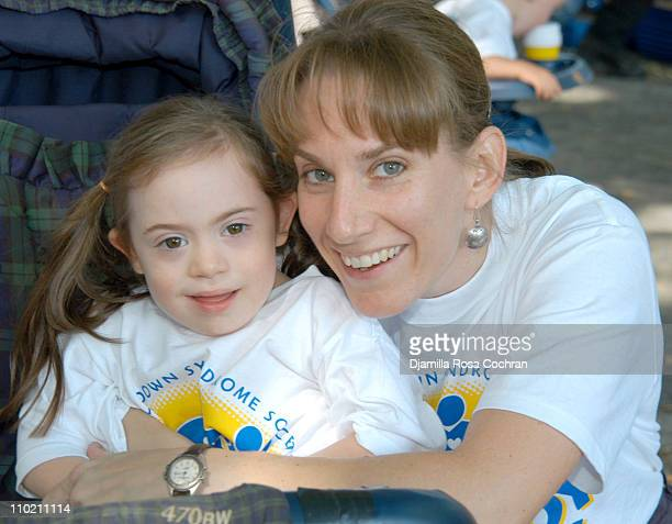 Catherine Arduino and Laura Arduino during New York City Buddy Walk Kicks Off Down Syndrome Awareness Month at Central Park at the Great Hill in New...