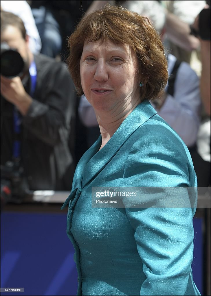 Catherine Ashton, Baroness Ashton of Upholland and Vice-President of the European Commission arrives at the European Summit on June 28, 2012 in Brussels, Belgium.Leaders are meeting to discuss the Multiannual Financial Framework, the European Semester and the European growth agenda.
