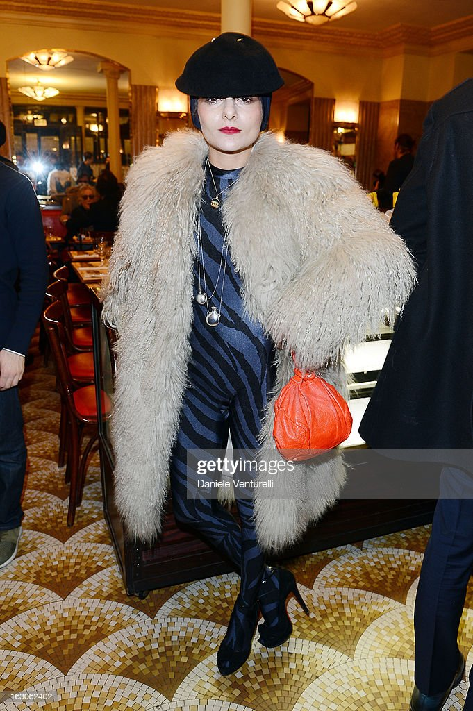 Catherine Baba attends the Bulgari And Purple Magazine Party at Cafe de Flore on March 3, 2013 in Paris, France.