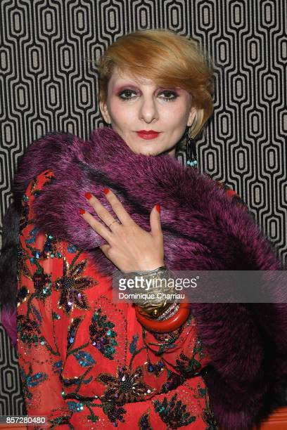 Catherine Baba attends the Miu Miu aftershow party as part of the Paris Fashion Week Womenswear Spring/Summer 2018 at Boum Boum on October 3 2017 in...