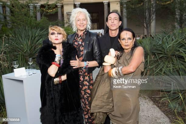 Catherine Baba Ellen Von Unwerth Rick Owens and Michele Lamy arrive for the amfAR Paris Dinner at Le Petit Palais on July 2 2017 in Paris France