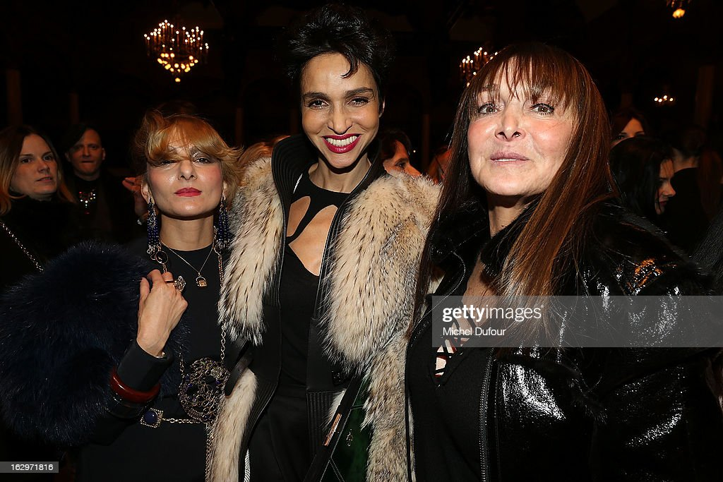 Catherine Baba, Farida Khelfa and Babette Djian attend the Jean Paul Gaultier Fall/Winter 2013 Ready-to-Wear show as part of Paris Fashion Week on March 2, 2013 in Paris, France.