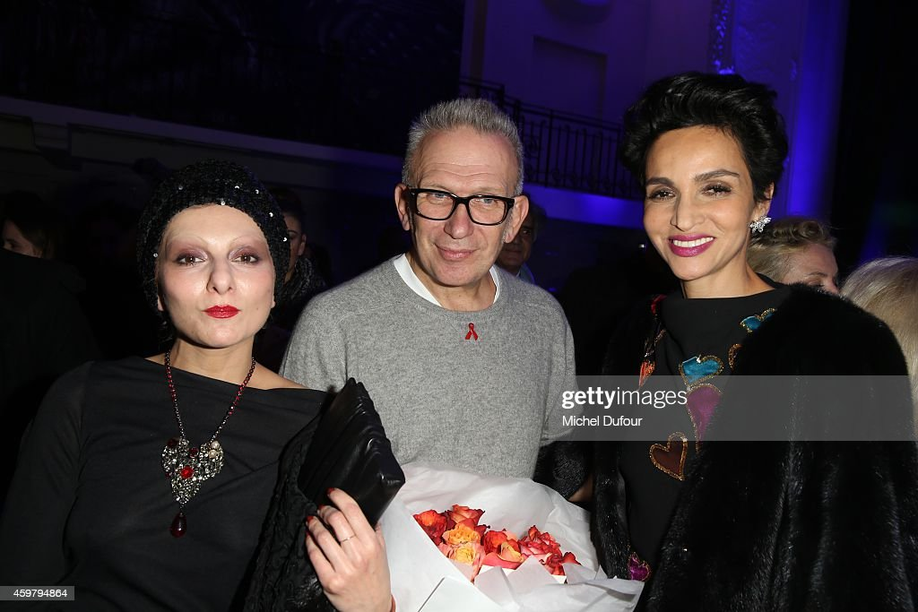 Catherine Baba Jean Paul Gaultier and Farida Khelfa attend at Maison Jean Paul Gaultier the'Le Projet ICCARE Association' Against AIDS At 325 Rue du...