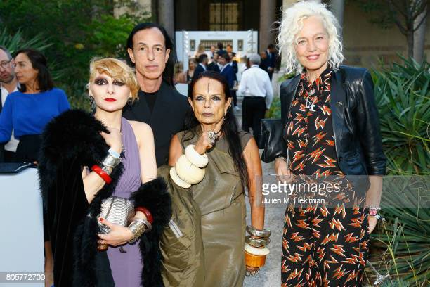 Catherine Baba Rick Owens Michele Lamy and Ellen von Unwerth attends the amfAR Paris Dinner 2017 at Le Petit Palais on July 2 2017 in Paris France