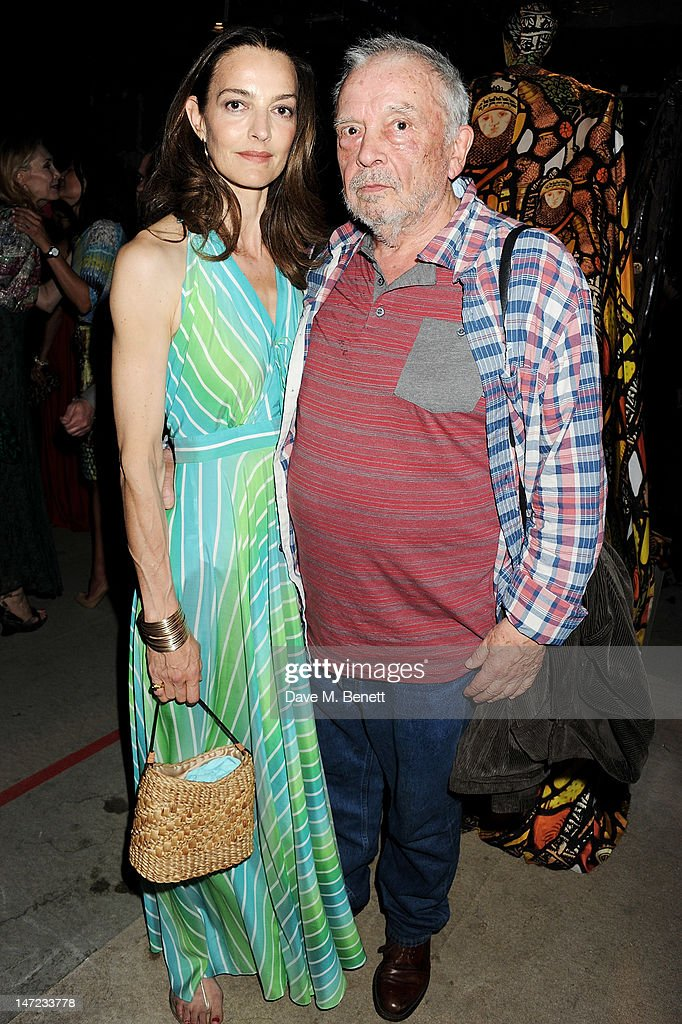 Catherine Bailey and David Bailey attend the 'Britain Creates 2012 Fashion Art Collusion' VIP Gala drinks reception in association with the British...