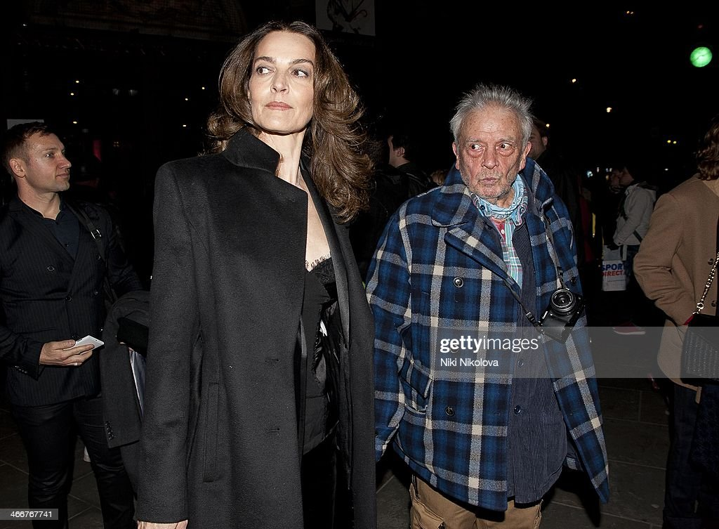 <a gi-track='captionPersonalityLinkClicked' href=/galleries/search?phrase=Catherine+Bailey&family=editorial&specificpeople=242863 ng-click='$event.stopPropagation()'>Catherine Bailey</a> and David Bailey is seen leaving the Portrait Gallery, Trafalgar Sq on February 3, 2014 in London, England.