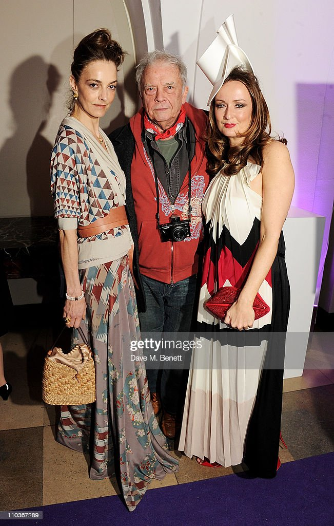 Catherine Bailey artist David Bailey and Editor of Harper's Bazaar Lucy Yomans attend The Surrealist Ball in aid of NSPCC hosted by Dasha Zhukova...