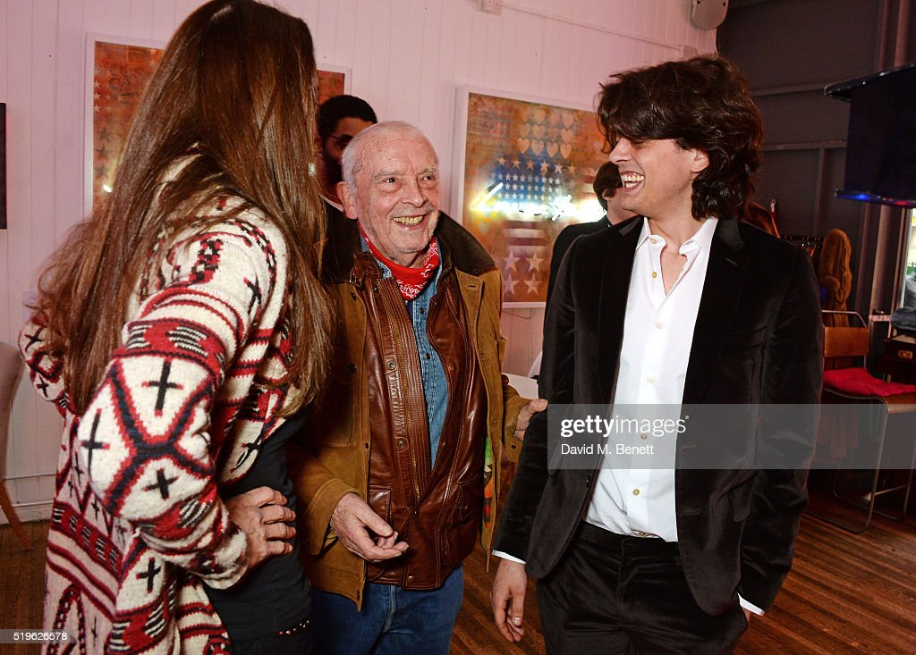 Catherine Bailey David Bailey and Fenton Bailey attend a private view of 'Fentoscope Camera Shy' presented by Fenton Bailey and supported by Crystal...