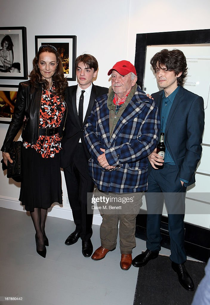 Catherine Bailey, Sascha Bailey, David Bailey and Fenton Bailey attend a private view of 'Human Relations' featuring the photographs of Fenton Bailey and Mairi-Luise Tabbakh, curated by Sascha Bailey, at Imitate Modern on May 1, 2013 in London, England.